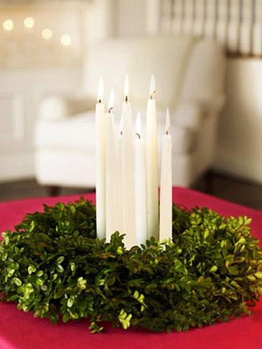 Egyszerű asztaldísz karácsonyra