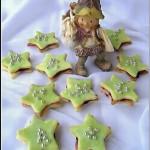 karácsonyi csillagok sütemény