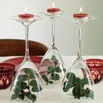Karácsonyi asztaldísz pohár