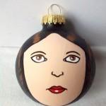Leia karácsonyfadísz