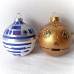 R2D2 és C3PO fenyőfa díszek