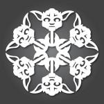 papír yoda star wars hópehely